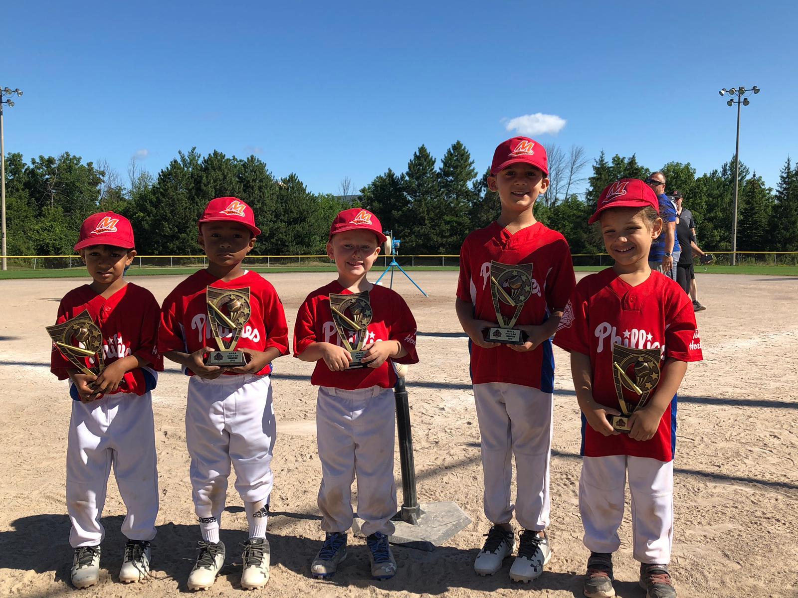 2019 Junior TBall Champions Phillies