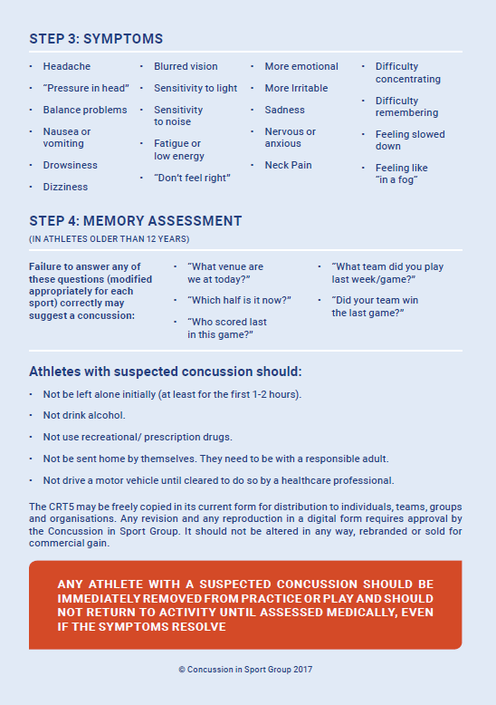 Concussion Recognition Tool 2