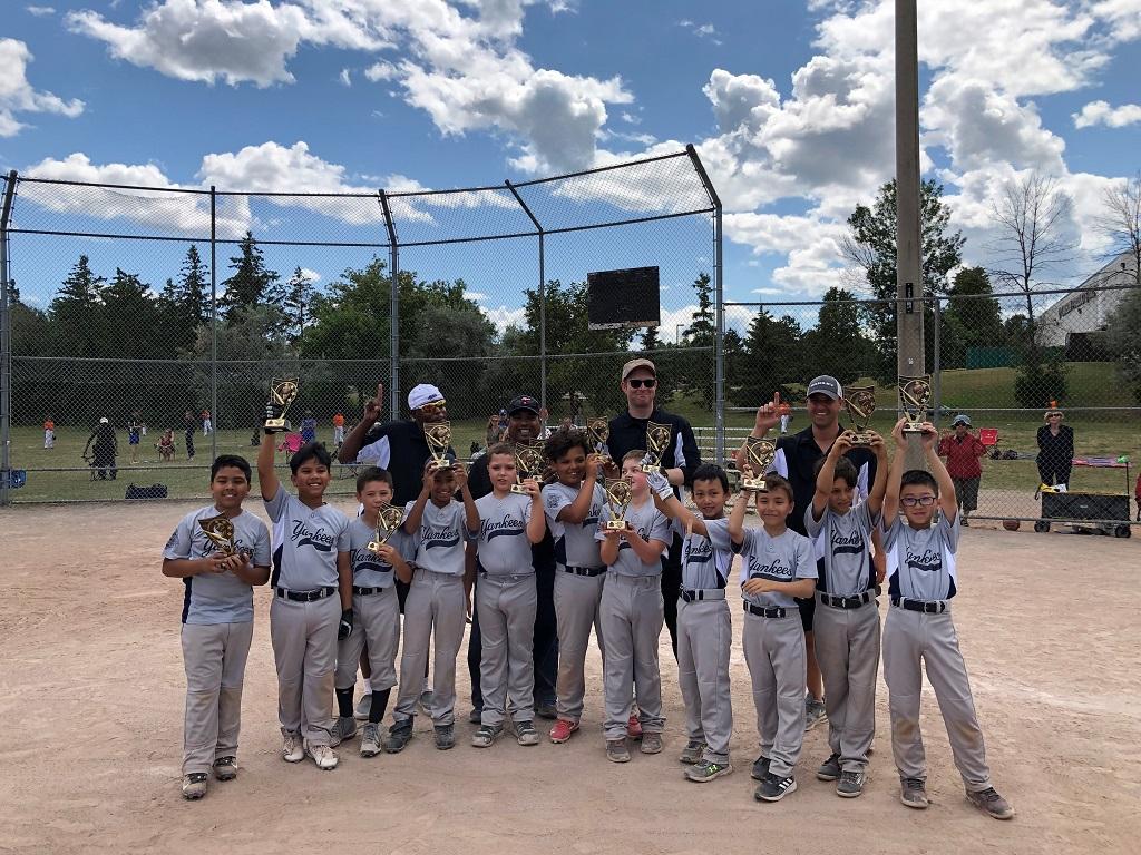Yankees 2019 Minor Mosquito Champions 1